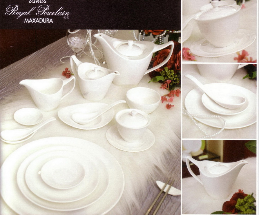 "Royal Porcelain ""SILK"" collection, this concept of this collection derived from the beauty of the silk fabric which has remarkable texture appearance. The weaving texture of silk that give the feeling of soft and tenderness. Your delightful dining experience will be "" Smooth & Vibrant as Silk"""